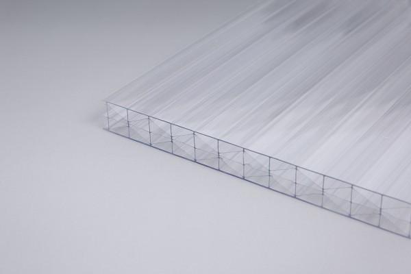 Stegplatte 16mm Polycarbonat farblos X-Struktut Hohlkammerplatte