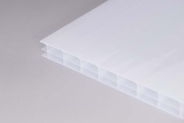 Stegplatten 16mm Polycarbonat weißopal
