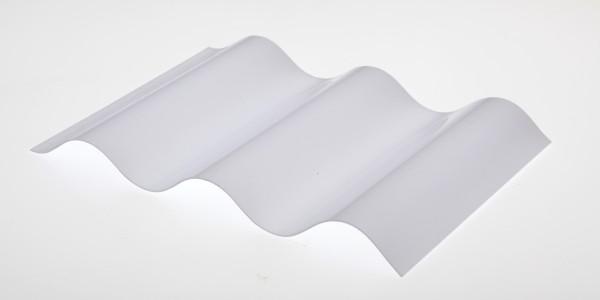 Lichtplatte Poycarbonat Sinus 76/18 Wellplatte weißopal