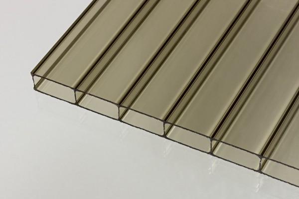 Stegplatten Acrylglas 16/32 bronze
