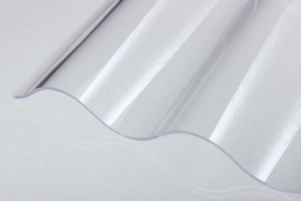 Lichtplatte Poycarbonat 2,5mm 76/18 Wellplatte glashell