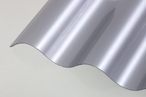 Lichtplatte Poycarbonat Sinus 76/18 Wellplatte silbermetallic