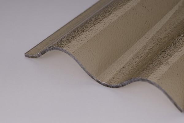 Lichtplatte Acrylglas C-Struktur 76/18 Wellplatte bronze