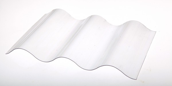 Lichtplatte Poycarbonat Sinus 76/18 Wellplatte glashell