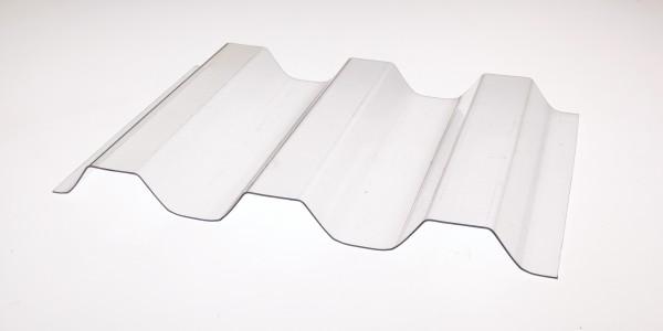 Lichtplatte Poycarbonat Trapez 76/18 Wellplatte glashell