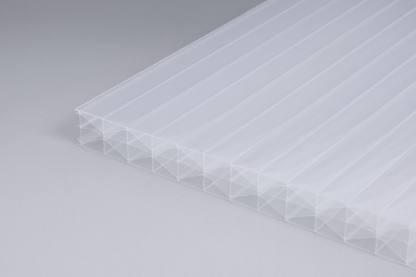 Stegplatte 16mm Polycarbonat weißopal X-Struktur Hohlkammerplatte