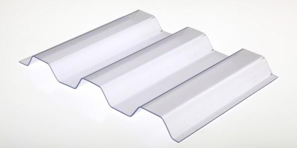 Lichtplatte PVC 1,0mm 70/18 Trapezprofil glashell