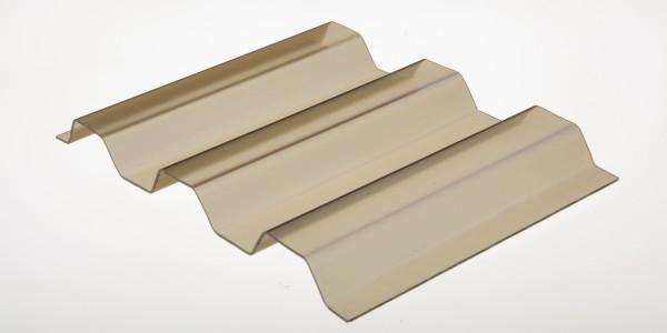 Lichtplatte PVC 1,4mm 70/18 Trapezprofil bronze