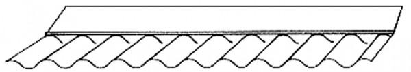 Maueranschluss Acrylglas Sinus 76/18
