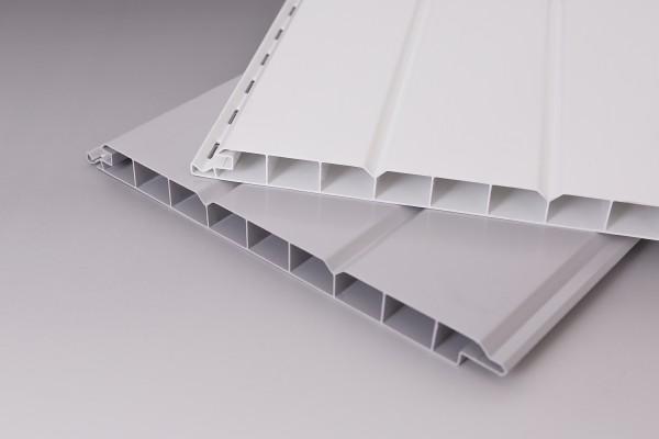 16mm PVC Paneele | weiß und grau | Nut- und Feder