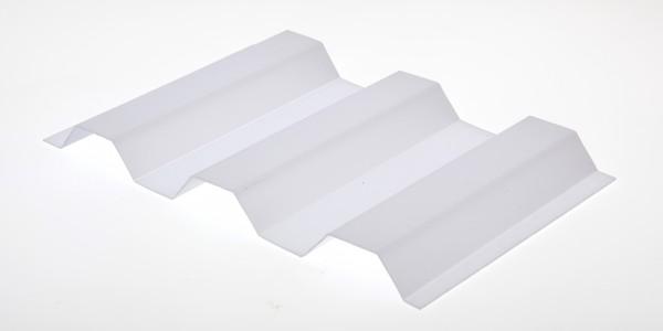 Lichtplatte Poycarbonat Trapez 76/18 Wellplatte weißopal