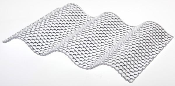 Lichtplatte Poycarbonat Wabenstruktur 76/18 Wellplatte glashell